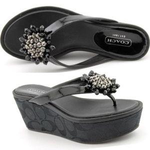 Coach Norice Wedge Thong Flip Flop Sandal
